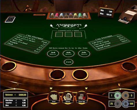 play mississippi stud poker table   art  games