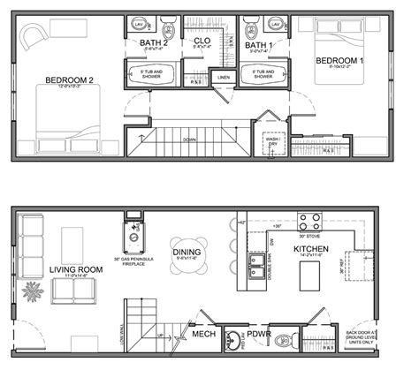 narrow townhouse floor plans very narrow unit plans for apartments townhomes and