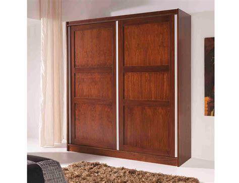 armario de dormitorio de matrimonio color nogal en madera dm  factory del mueble utrera