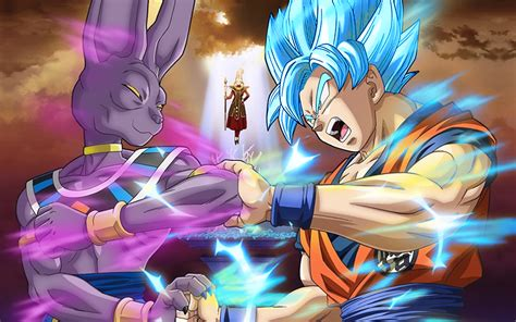 dragon ball z beerus wallpaper goku ssb vs beerus wallpaper by celljr z on deviantart