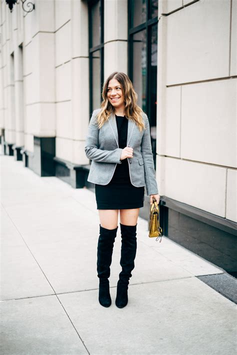 how to wear the knee boots how to wear the knee boots to office work among
