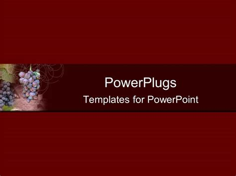 powerpoint template plane solid wine colored background