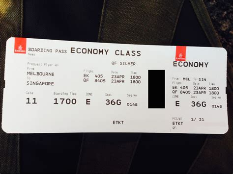 emirates boarding pass avis du vol emirates melbourne singapore en economique