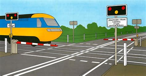 Railroad Crossing L Base by Crossing Tracks Safely How A Car Works