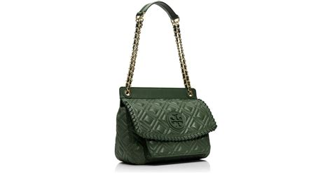 Burch Marion Quilted Shoulder Bag burch marion quilted small shoulder bag in green lyst