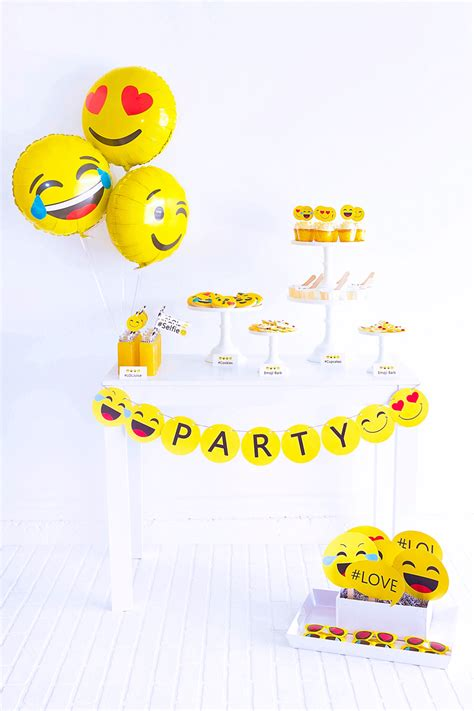 celebration emoji emoji party emoji birthday party emoji free printables
