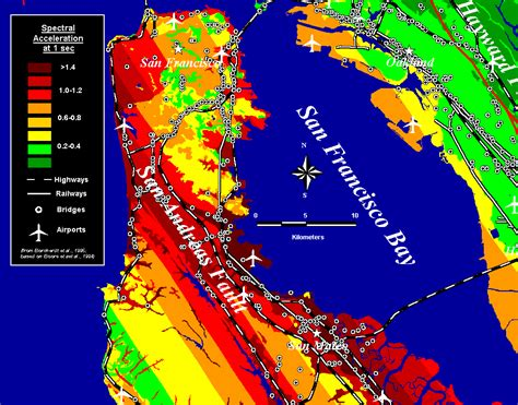 earthquake data san francisco earthquake map