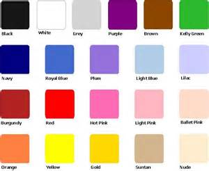 color for all colors color swatches for weddings
