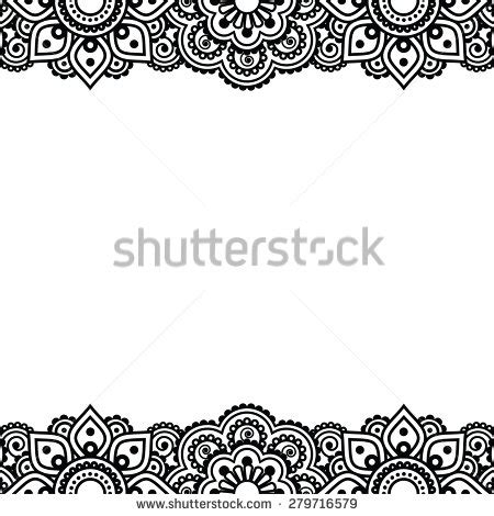 tattoo borders designs henna border stock images royalty free images vectors
