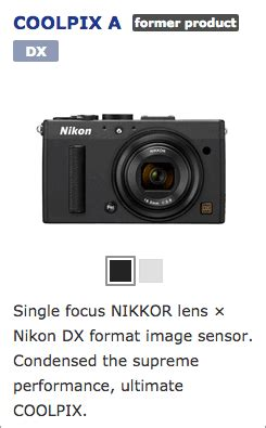 nikon coolpix a camera listed as discontinued in japan