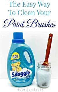 How To Clean by How To Clean Paint Brushes Tip Of The Day 4 Real