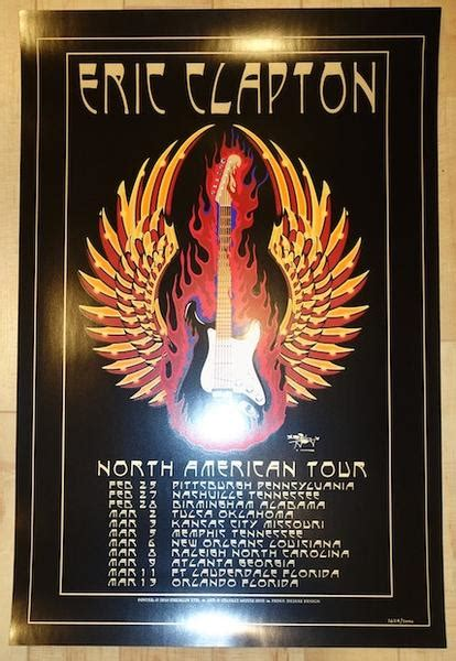 eric clapton north american  concert poster