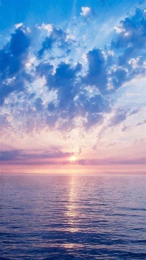nature fantasy purple sunrise scene  sea iphone