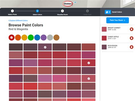 glidden paint colors room visualizer home decorating painting advice