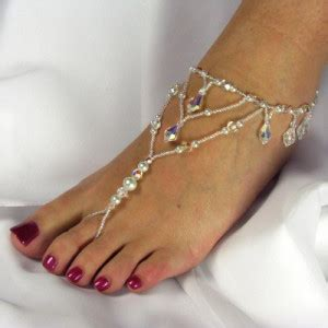 Must Colors For Summers Bare Toes by Trend Beaded Barefoot Sandals Eureka