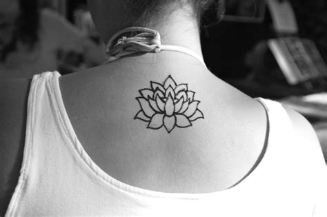 Lotus Flower Back 33 Best Henna Lotus Tattoos Designs