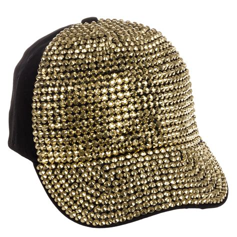 Studded Baseball Cap fully studded rhinestone adjustable cotton