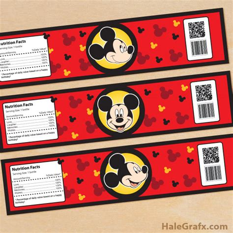 Mickey Mouse Clubhouse Water Bottle Labels Free