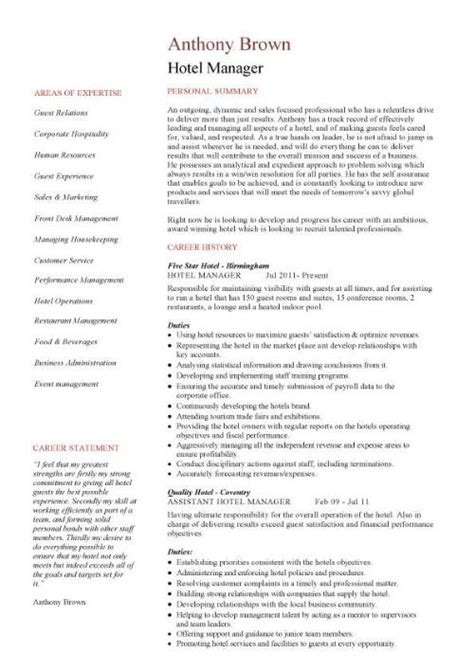 Assistant Hotel Manager Sle Resume by Assistant Management Resume Sales Assistant Lewesmr