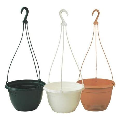 White Hanging Planters by 1 X 27cm White Warwick Plastic Hanging Basket Garden