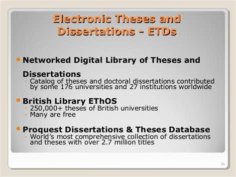 networked digital library of theses and dissertations writing research thesis literature review