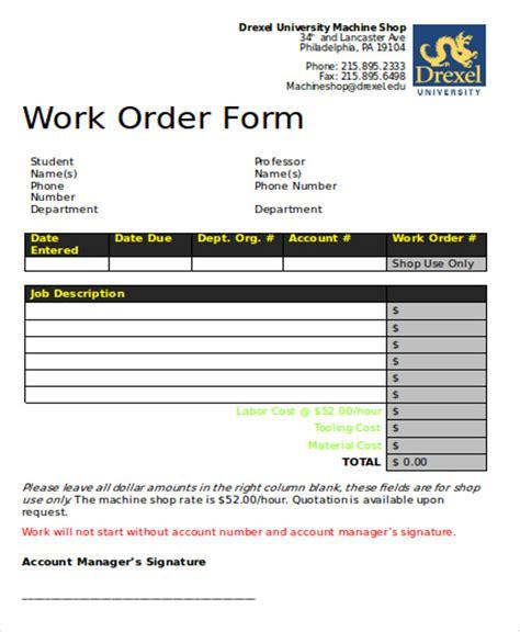 work order format in word korest jovenesambientecas co