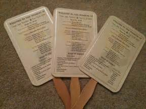 paper fan wedding programs paper fan wedding programs 171 do it yourself n save