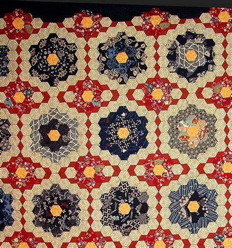 Hexagon Patchwork Quilt - 89 best images about epp antique quilts on