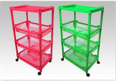Rak Plastik 8 Kotak rak roda plastik valencia susun 4 perabot plastik