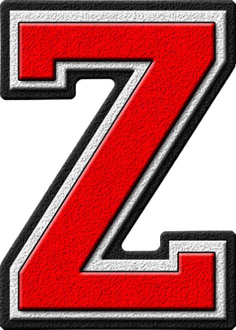 College With Letter Z Presentation Alphabets Scarlet Varsity Letter Z
