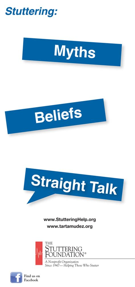basic research stuttering foundation a nonprofit stuttering myths beliefs and straight talk for teens