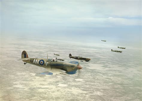 Eart Prop Boomber File Supermarine Spitfire Mk Vbs Of No 417 Squadron