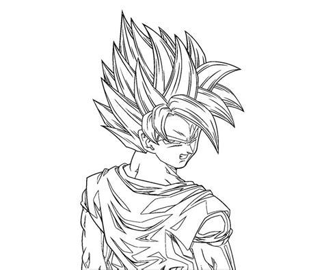 Coloring Page Goku by Free Coloring Pages Of 1 Goku