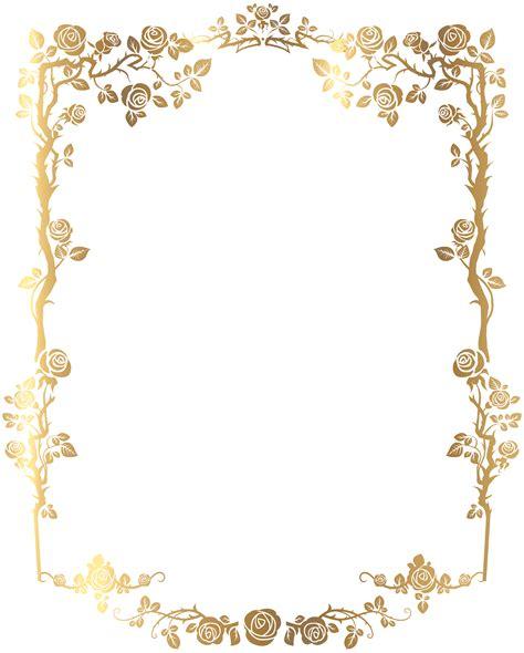 wedding decorative border decorative frame png clip image b f goldy