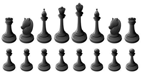 Black Chess Pieces PNG Clipart   Best WEB Clipart