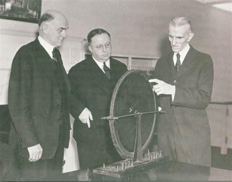 Rotating Magnetic Field Tesla Nikola Tesla With Representatives Of Westinghouse Electric