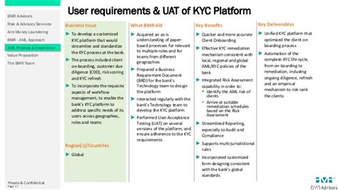 kyc workflow bmr advisors anti money laundering compliance