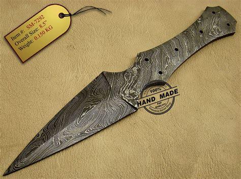 damascus blade knife damascus blank blade knife damascus knives shop