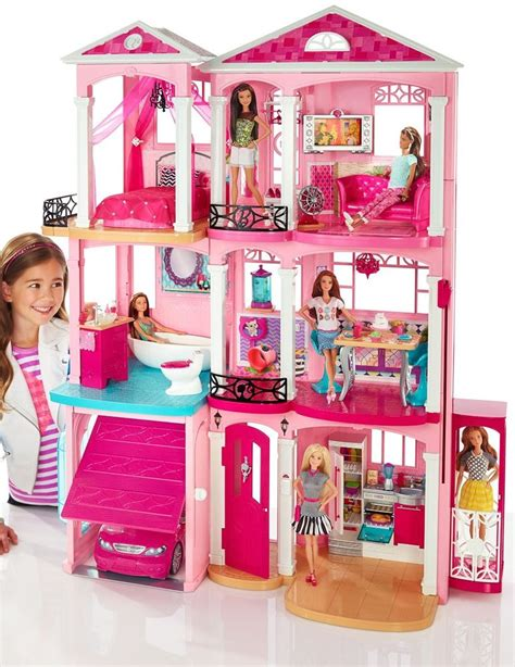 barbie dream house accessories barbie dream house 3 story pink doll house w accessories fast world shipping ebay