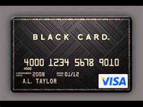 black card black card visa how to apply youtube