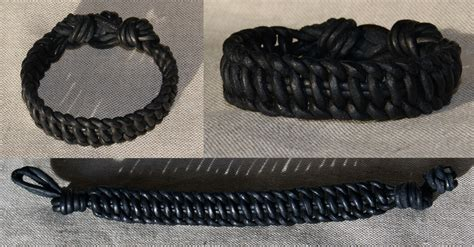 Flat Macrame Bracelet - flat leather macrame bracelet by avanger on deviantart