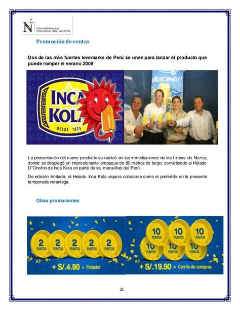 cadena de valor de inka kola inca kola mkt mix