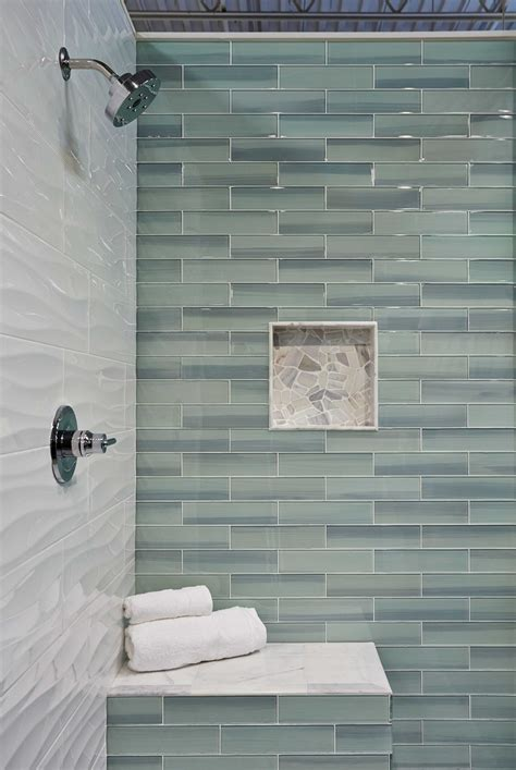 Bathroom Glass Tile Ideas by Bathroom Shower Wall Tile New Haven Glass Subway Tile