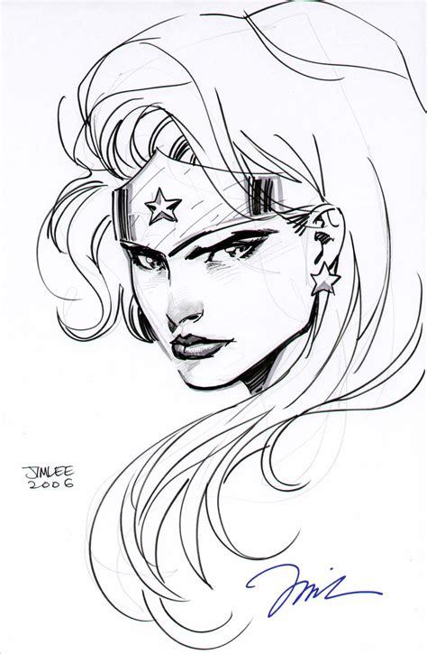 tutorial vector sketchbook jim lee wonder woman head drawing justice league dc comics