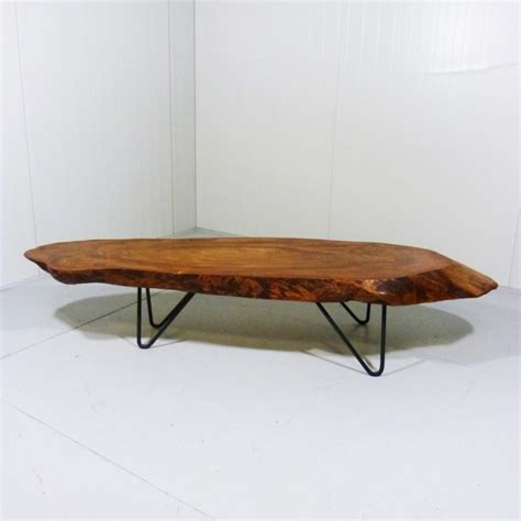 tree trunk coffee table by unknown designer for unknown