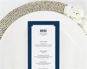 Classic Wedding Programs Elegant Border Dinner Menus Wedding Menus By Shine