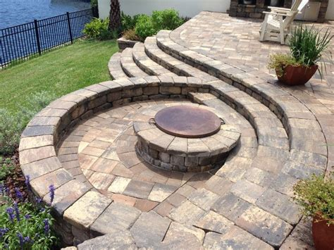 Cool Fire Pit Paver Projects Pinterest Cool Firepits