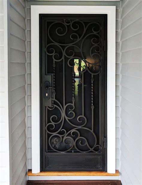 unique wrought iron security entry door  adoore iron