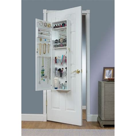 beauty armoire over the door combination jewelry and makeup armoire