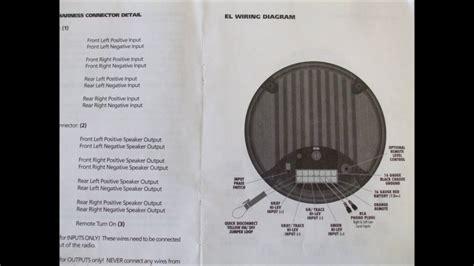 bazooka powered  woofer wiring schematics youtube
